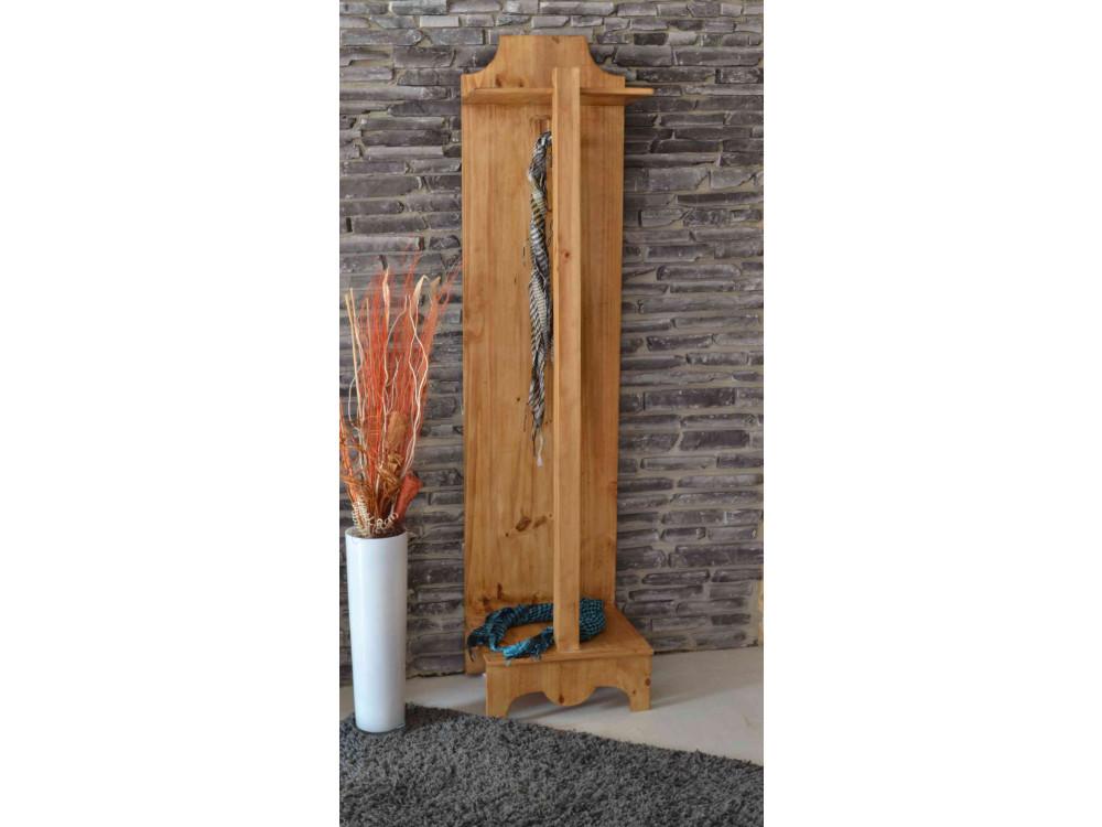 Garderobenhaken Mexico Möbel 100x18x6 cm Landhausstil Massivholz Pinie Honig