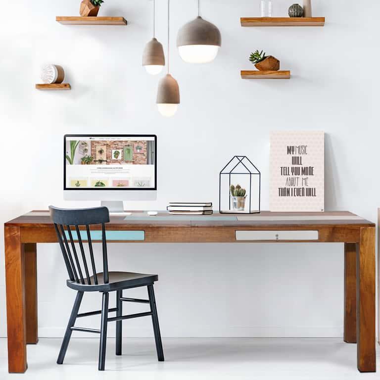 so richten sie ihr arbeitszimmer ein miam bel acryl shop. Black Bedroom Furniture Sets. Home Design Ideas